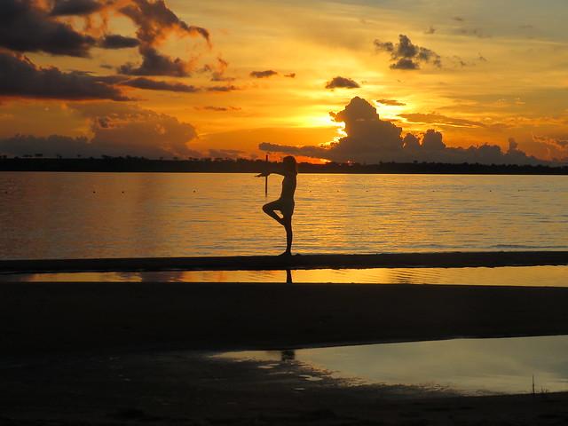 Pôr do sol no Rio Tietê   Sales SP