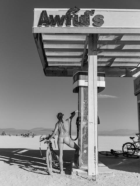 Tonya at Burning Man
