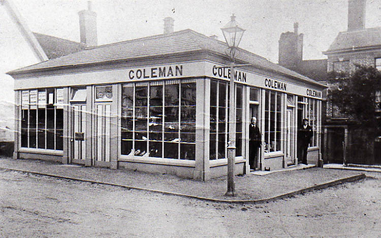 Then And Now: Coleman's bootmakers store, date date unknown.  1920s?