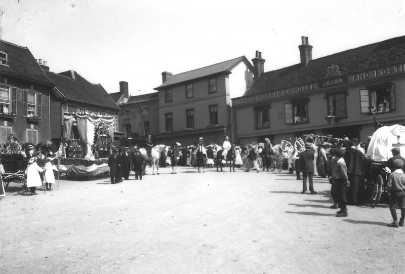 Then And Now: Market Hill, Fram Pageant? date unknown