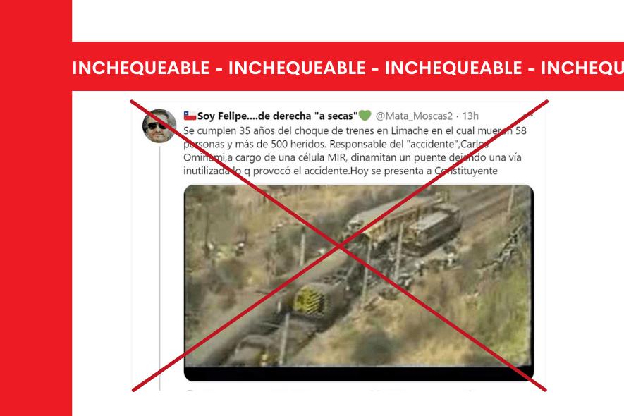 No se puede establecer la responsabilidad de Carlos Ominami en el accidente ferroviario de 1986 en Queronque