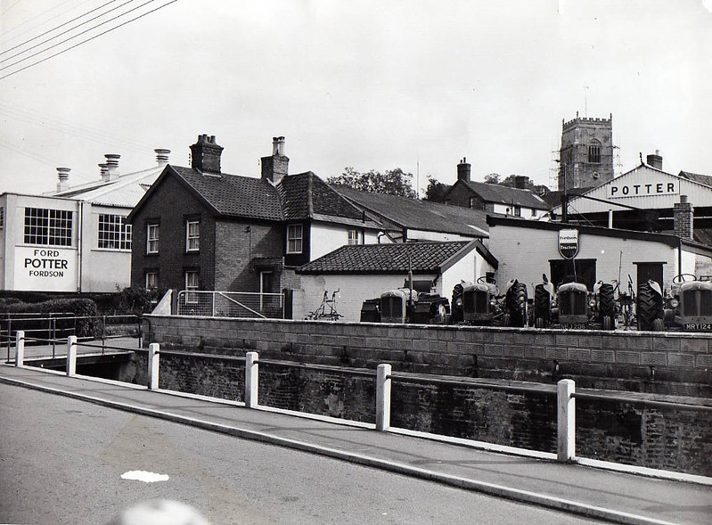 Then And Now: Riverside, Potters yard, c1952?