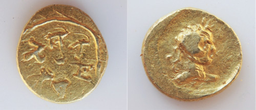 Gold coin of Viṣuvama | by Numismatic Bibliomania Society