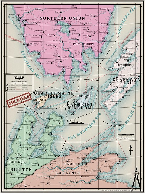 The Northern Lands Antique Style Map