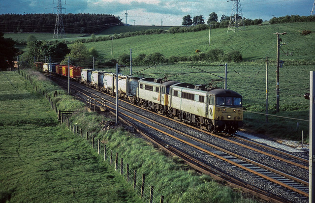 Class 86 Freightliner Strickland Cumbria June 2001