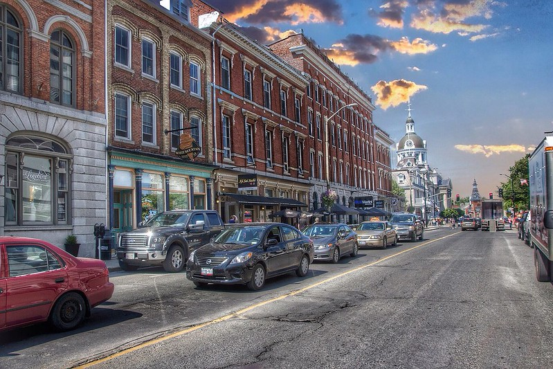 Kingston Ontario - Canada  - Downtown Commercial Area - King Street
