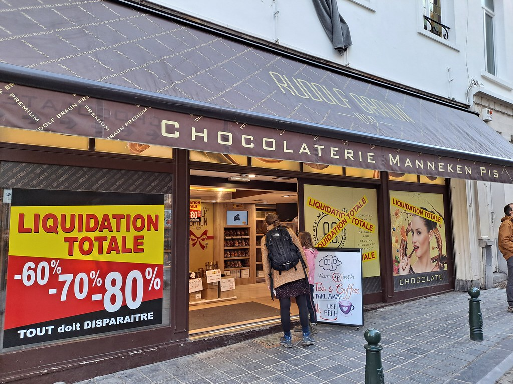 Tienda chocolate Manneken Pis