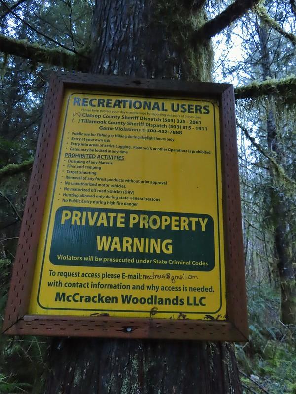 Informational sign from McMracken Woodlands LLC