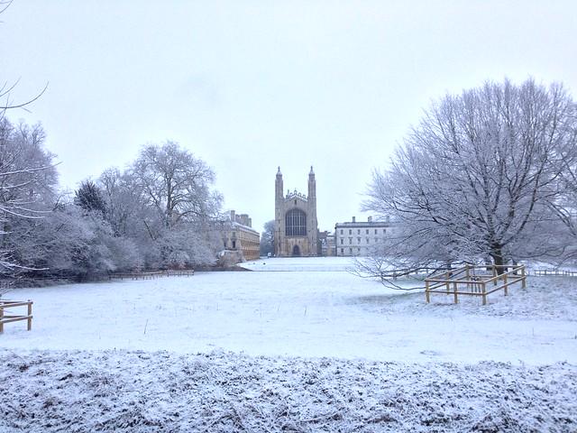 Snow in Cambridge January 2013