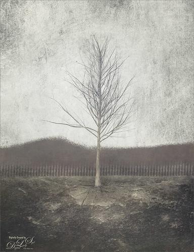 Digital Art image of a tree