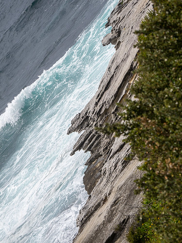 coast diagonal landscape sea