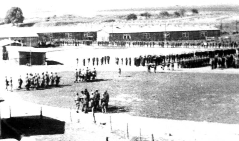 Täglicher Gefangenenappell im Kriegsgefangenenlager Oflag 6b