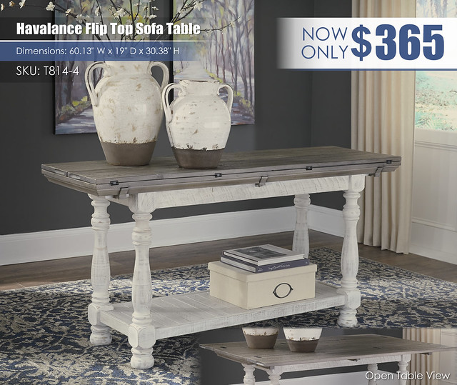 Havalance Flip Top Sofa Table_T814-4-CLSD