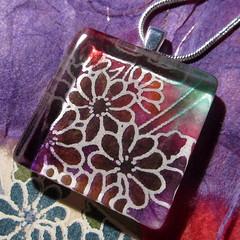Yuzen paper collage necklace