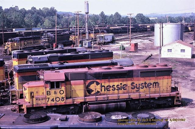 Chessie BO 7408, Connellsville, PA. 6-06-1982