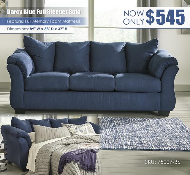 Darcy Blue Full Sleeper Sofa_75007-38-35