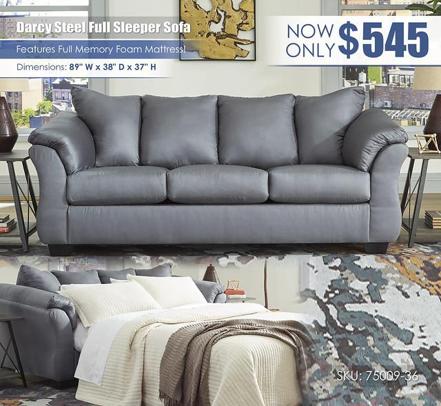 Darcy Steel Full Sleeper Sofa_75009-38-35