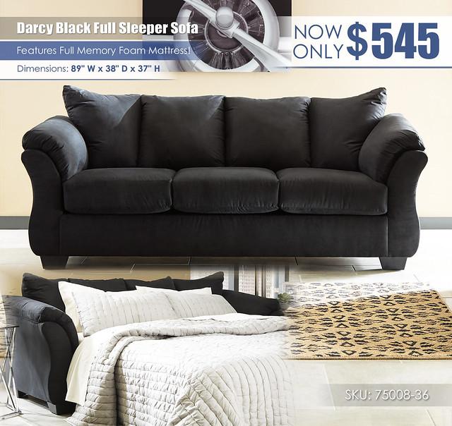 Darcy Black Full Sleeper Sofa_75008-38-35