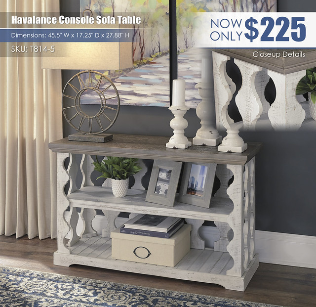 Havalance TV Console Sofa Table_T814-5