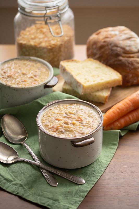 Bowls of Soupe aux Pois
