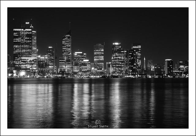 Perth City Skyline, South Perth Esplanade, South Perth, Perth, Western Australia