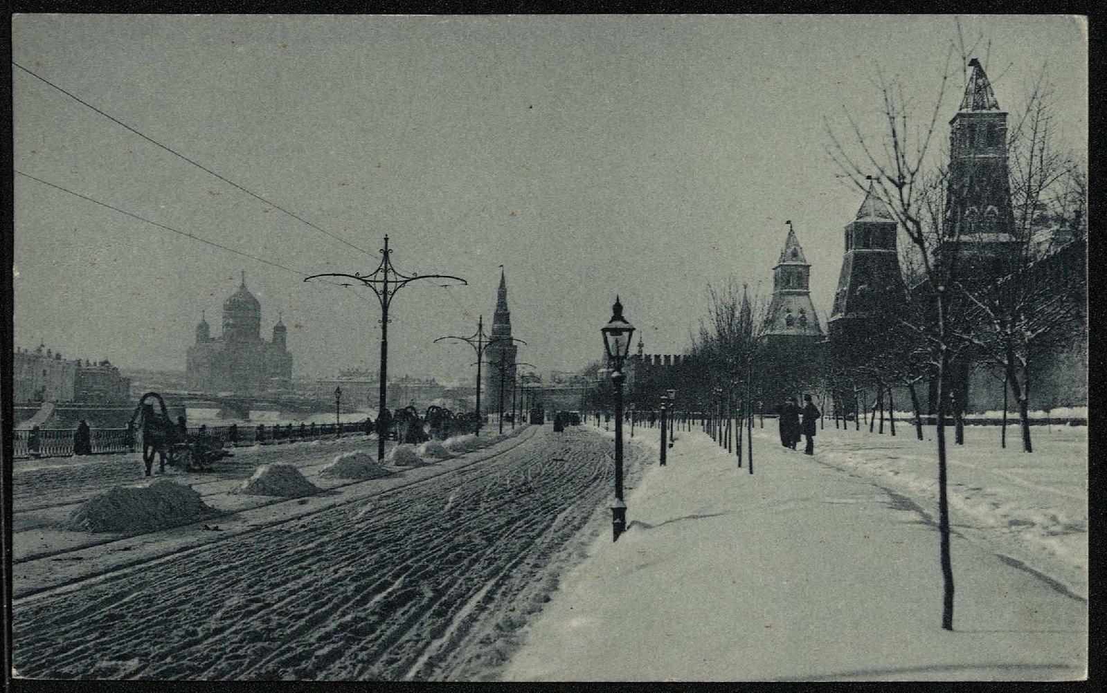Москва зимой. Кремлевская набережная