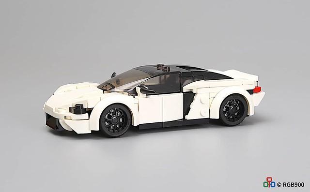 6 wide brick moc McLaren gt