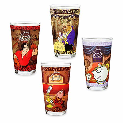 Disney Beauty and the Beast Drinking Glass Set - 4 pc. - Oh My Disney