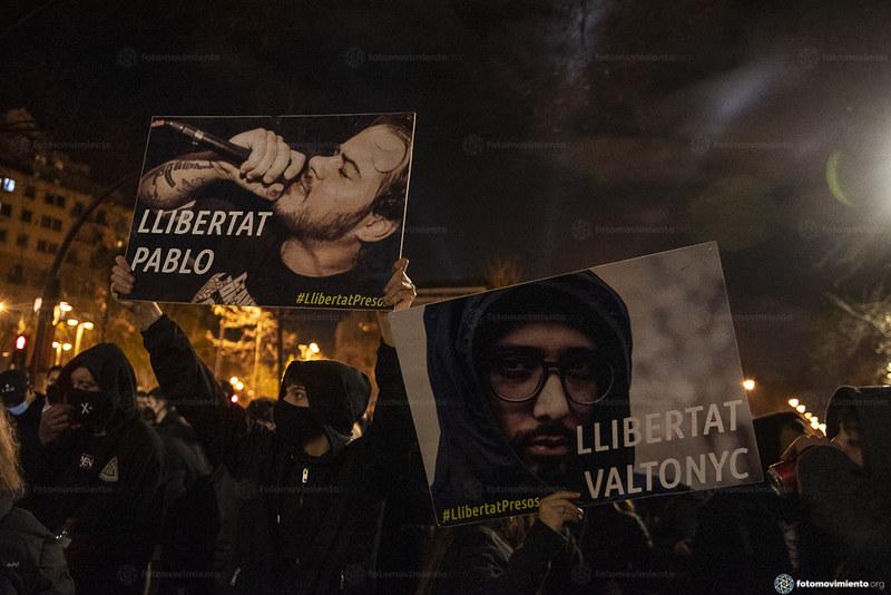2021_02_20 Manifestació per la llibertat de Pablo Hasél_Xavi Ariza(01)