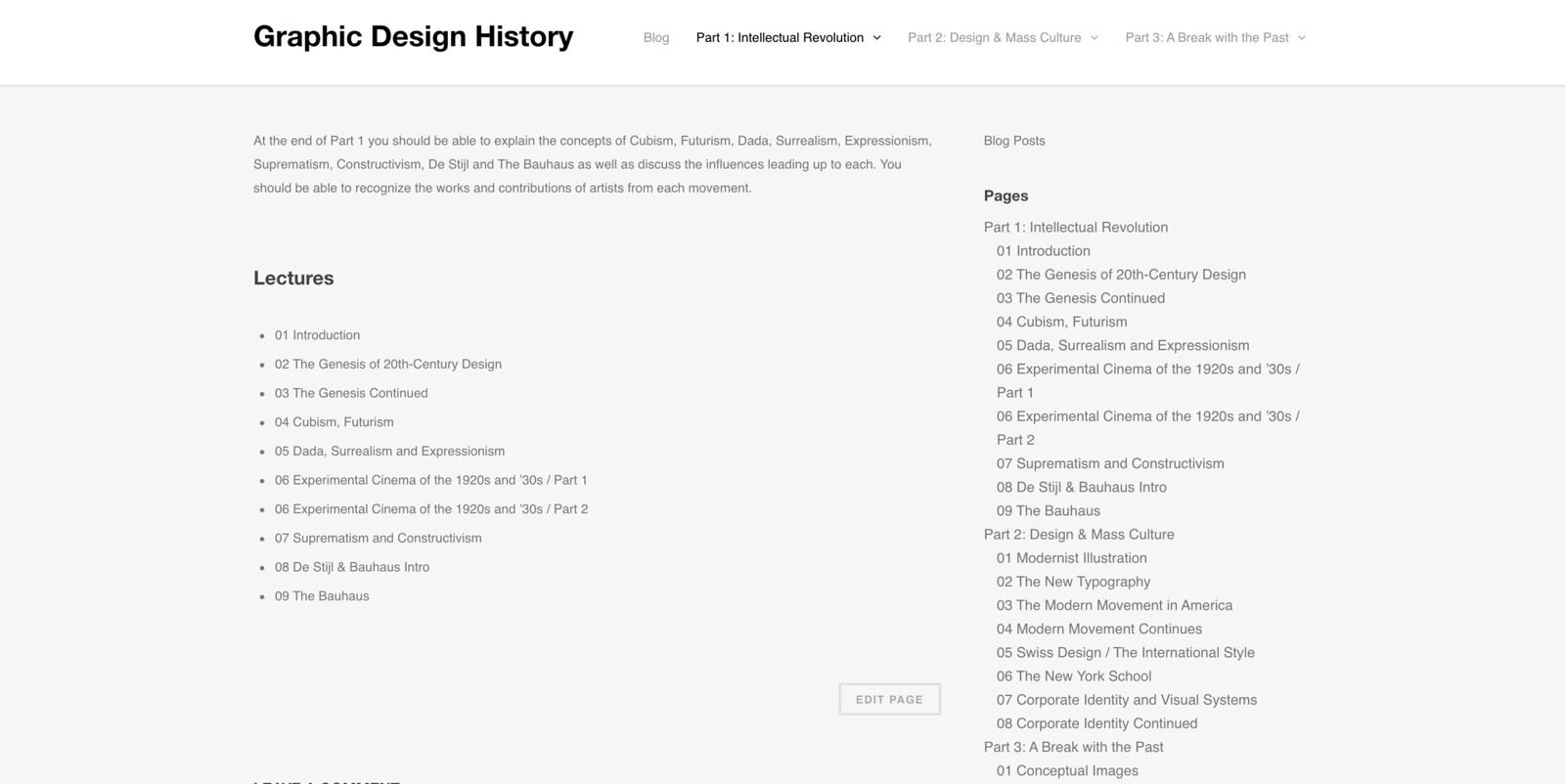 Graphic Design history screenshot