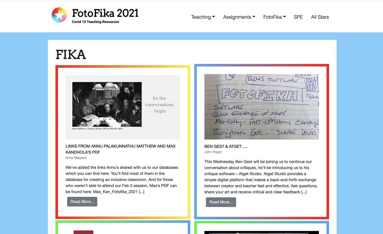 FotoFika site screenshot.