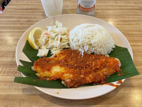 Waffletown's BBQ Chilli Fish with Butter Rice