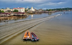 Water taxis Brunei.