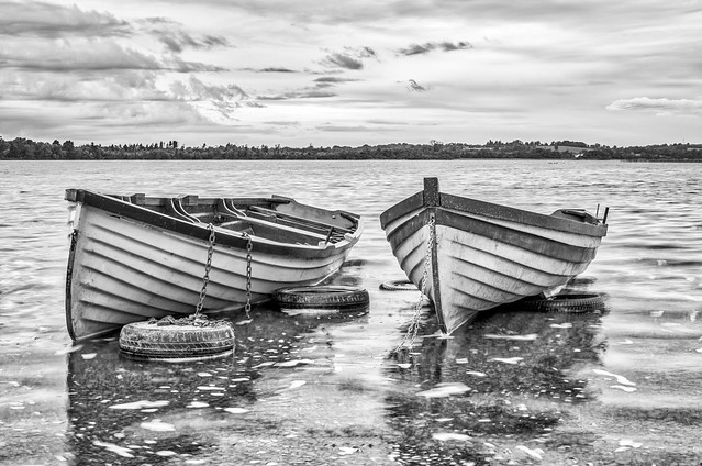 Lough Owel B&W