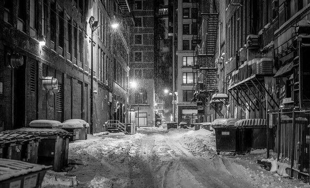 Chicago winter alley