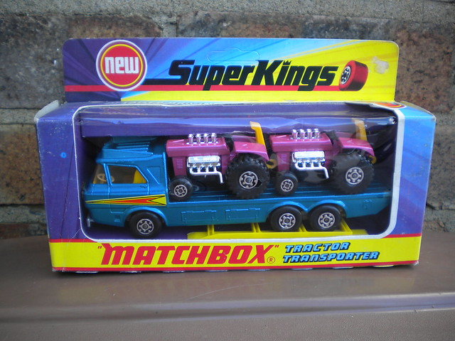 Vintage Matchbox Super Kings Boxed Tractor Transporter Boxed 1970's Retro Toy
