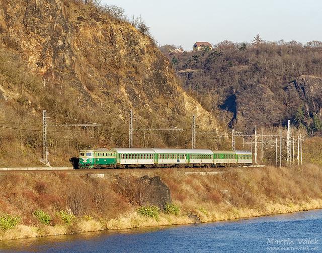 141.001 ČD, R 613, Libčice nad Vltavou-Letky - Řež (Czechia)