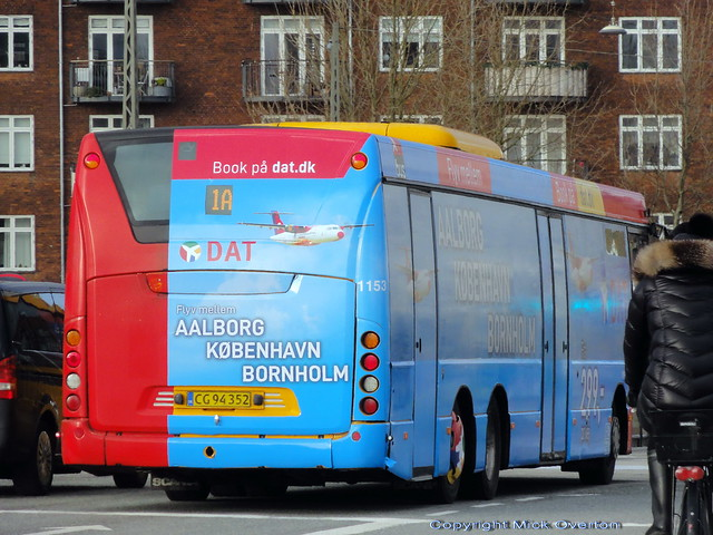 February 2021 new wrap for optimistic local Airline DAT on Arriva Scania Omnilink 1153