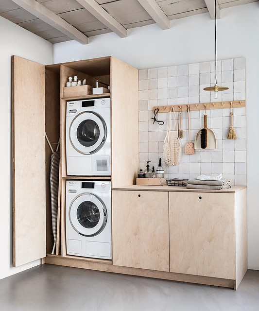 Plywood Laundry Cabinets