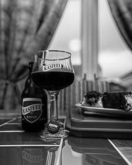 Glass of Kasteel Rouge (Strong Fruit Beer - 8%) a Blend of Kasteel Donker(11%) & Sour Cherries (Monochrome) (Panasonic DC-S1 & Sigma ART 24-70mm f2.8 Zoom) (1 of 1)