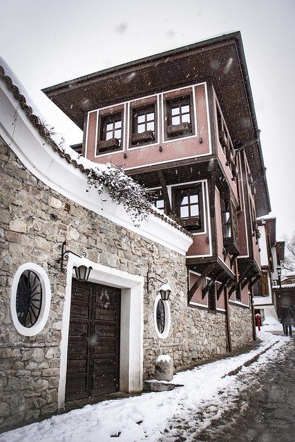 Old Town, Snowy Plovdiv