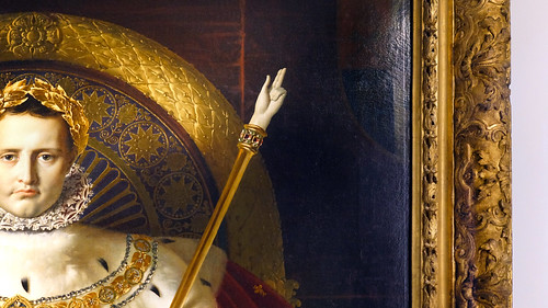 Ingres, Napoleon on His Imperial Throne (detail) | by profzucker