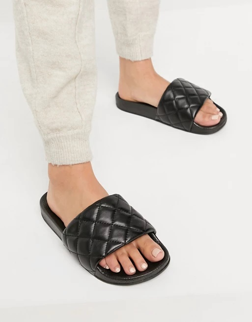 7_asos-black-wide-quilted-pool-slides-sandals