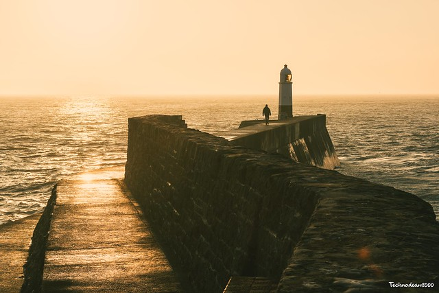 Porthcawl golden hour silhouette