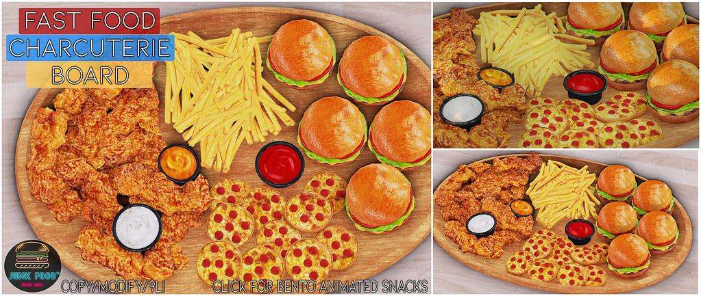Junk Food – Fast Food Charcuterie Board Ad