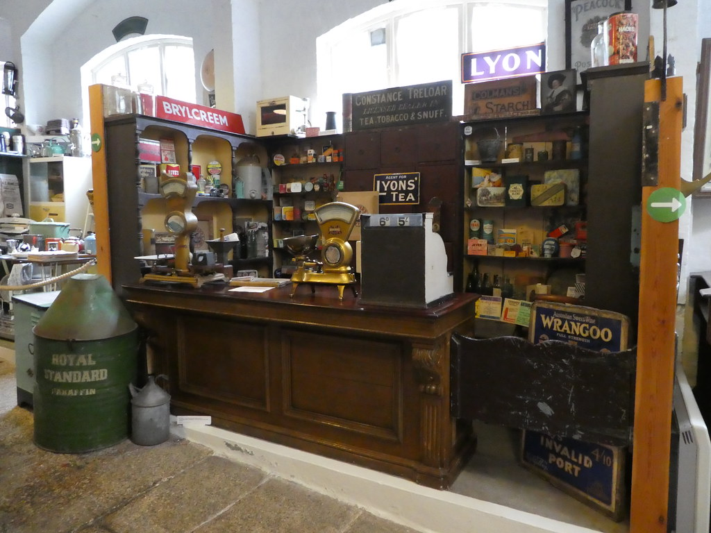 Example of an old grocery store, Museum of Cornish Life, Helston