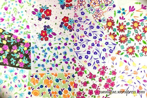 day 4 ditsy flower patterns