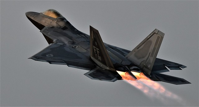 Lockheed Martin F-22 Raptor  Jet USAF FF AF-08 156 This photo was taken about 21:00hrs in the evening