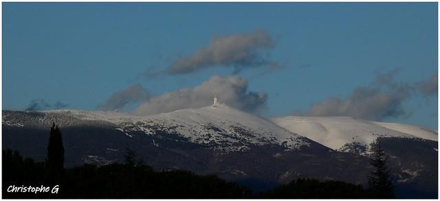 Le mont Ventoux enneigé...(Saint-Didier - Vaucluse - 10 février 2021)