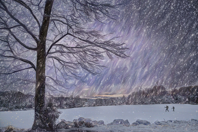 Peaceful New England Winter Scene